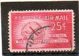 ETATS-UNIS       25 C   1949    Y&T:43   Poste Aérienne    Oblitéré - 2a. 1941-1960 Usados
