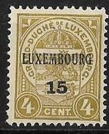 Luxembourg 1915 Prifix Nr. 99 - Vorausentwertungen