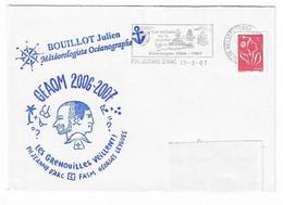55 JDA -PORTE-HÉLICOPTÈRES JEANNE D'ARC -GLG -GEAOM 2006-2007 -CACHET DES MÉTÉOS +Cachet Perso D'un Météorologiste (J.B - Naval Post