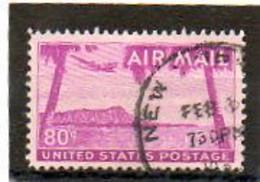 ETATS-UNIS       80 C   1952    Y&T:45   Poste Aérienne    Oblitéré - 2a. 1941-1960 Usados