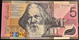 AUSTRALIA 2001  5 $ POLYMER QFDS - Moneda Local