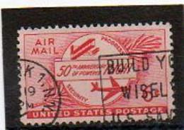 ETATS-UNIS       6 C   1953    Y&T:46   Poste Aérienne    Oblitéré - 2a. 1941-1960 Usados