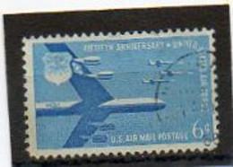 ETATS-UNIS       6 C   1958    Y&T:49   Poste Aérienne    Oblitéré - 2a. 1941-1960 Usados