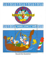 MWD-BK7-413-3 MINT PF/MNH ¤ SIERRA LEONE 1992 BLOCK ¤ MICKEY'S JOURNEYS ROUND THE WORLD - FRIENDS OF WALT DISNEY - Disney