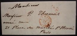 Paris 1848 Cachet Rouge De Distribution PP + Cachet G 20? à Identifier... - 1801-1848: Precursors XIX