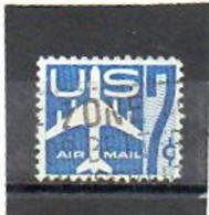 ETATS-UNIS       7 C   1958    Y&T:50   Poste Aérienne    Oblitéré - 2a. 1941-1960 Usados