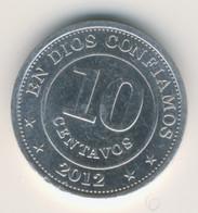 NICARAGUA 2012: 10 Centavos, KM 105 - Nicaragua