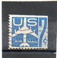 ETATS-UNIS    7 C   1958   Pas Sur  Y&T   Scott: C51a      Haut Et Coté Droit Non Dentelés   Poste Aérienne    Oblitéré - 2a. 1941-1960 Usados