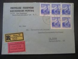 Österreich 1967- Reco Express Feuerwehr-Brief Mit MeF Der MiNr. 1048 Gelaufen Nach Linz - 1961-70 Covers