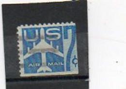 ETATS-UNIS    7 C   1958   Pas Sur  Y&T   Scott: C51a     Bas Et Coté Droit Non Dentelés   Poste Aérienne    Oblitéré - 2a. 1941-1960 Usados