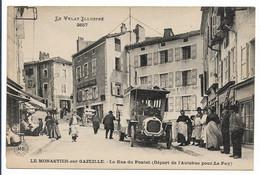 LE MONASTIER SUR GAZEILLE - La Rue Du Pontet  - Départ De L'Autobus. - Andere Gemeenten