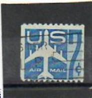 ETATS-UNIS    7 C   1958   Y&T: 50a      Roulette  Poste Aérienne    Oblitéré - 2a. 1941-1960 Usados