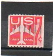 ETATS-UNIS    7 C   1960    Y&T: 51a     Roulette   Poste Aérienne    Oblitéré - 2a. 1941-1960 Usados