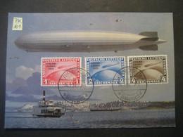 Deutsches Reich 1931- Zeppelin Luftschiff Postkarte Der Polar-Fahrt Mit Fälschung Der Mi. 456,457 Und 458 - Covers & Documents