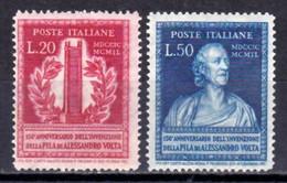 Italia Repubblica 1949 Volta Serie Completa Nuova Integra MNH - 1946-60: Nuovi
