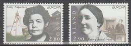 Aland Europa 1996 N° 113/ 114 ** Femmes Celebres - 1996