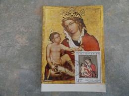 CARTE MAXIMUM CARD VERS 1350 LA VIERGE ET L'ENFANT TCHECOSLOVAQUIE - Other