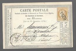 St LEGER DU BOIS  : 1874 :  GC 6294 + CàD  Type 17 Sur Carte Postale  ( Saône Et Loire ) : - 1849-1876: Classic Period