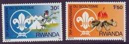 RWANDA - 75e Anniversaire Du Scoutisme - Y&T N° 1081-1088 - MNH - 1983 - 1980-89: Neufs
