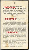 Oorlog Guerre Willy Van Den Bulck Duffel Soldaat Gesneuveld Tijdens De Vlucht In Les Sables D' Olonne / France 1940 - Devotieprenten