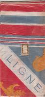 WW1 LIGNE MAGINOT - FRANCE-GREAT BRITAIN - Foulard Souvenir Dans Sa Pochette D'origine - Coqs Gaulois Et Lions Anglais - Documentos Históricos