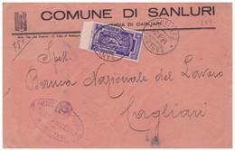A57. Sanluri. 1934. Annullo Guller SANLURI *CAGLIARI*, Su Lettera Affrancata Con Anno Santo C. 50, Isolato - Marcofilía