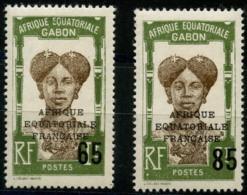 Gabon (1925) N 108 à 109 * (charniere) - Non Classés