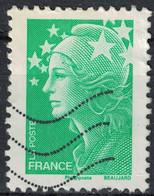 Timbre Oblitéré Used Stamp Tarif Lent Marianne De Beaujard Sans Valeur Faciale Vert France - 2008-13 Marianne De Beaujard