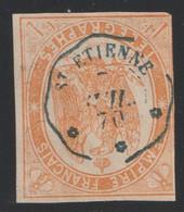Timbre Télégraphe N°3 Oblitérés St Etienne - Telegraphie Und Telefon