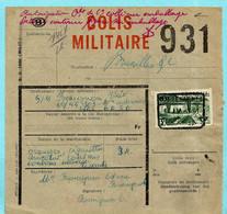 Militaire Colli, Spoorwegafst. MARBEHAN N°1 18/04/1951 Naar BPS 6 - 1942-1951