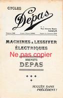 Cycles Depas à Namur Rue Adolphe Bastin Machine à Lessiver 227x140mm - 1900 – 1949