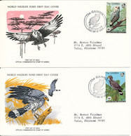 Gambia FDC 28-10-1978 WWF Cover BIRDS With WWF Panda On The Stamps Set Of 4 On 4 Covers With Cachet - FDC