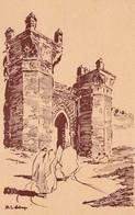 RABAT (Maroc) - Porte Du Chellah - Illustrateur Delaye - Cpa Vierge - Très Bon état - 2 Scans - Rabat