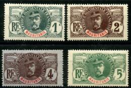 Mauritanie (1906) N 1 à 4 * (charniere) - Neufs