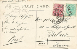 """002152 - AUSTRALIA - NSW - SYDNEY - CIRC. CANCELLATION """"THE EXCHANGE"""" ON STAMPS FRANKING POSTCARD TO FRANCE 1912 - Briefe U. Dokumente"""