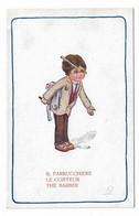 CARD BERTIGLIA MESTIERI IL PARRUCCHIERE- LE COIFFEUR RASOIO PETTINE 1096-5 -FP-N-2-0882-29857 - Bertiglia, A.