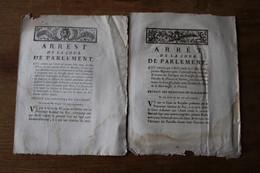 2 Arretés  Concernant POITIERS 1784 Et 1786 - Historical Documents