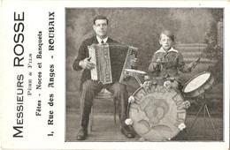 """Roubaix - Carte Pub - Messieurs Rosse Musiciens """"the Jazz Loulou"""" - Roubaix"""