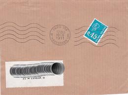 Let292 RBV Paris 109 Bd Haussmann 9è 5 L.O. /Lettre 10 06 1971 - Maschinenstempel (Werbestempel)