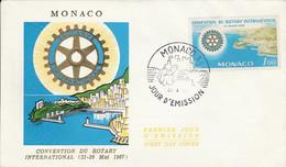 MONACO FDC 1967 CONVENTION ROTARY - FDC