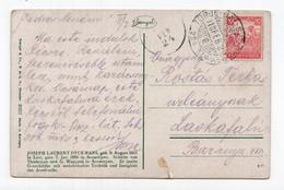 1918 HUNGARY,TPO 224 TORJE - BAL - SZT - GYORSY,ILLUSTRATED POSTCARD,USED - Hungary