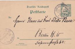 Deutsches Reich Kolonien DOA Postkarte P13 1903 - Colony: German East Africa