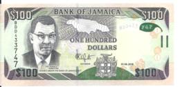 JAMAIQUE 100 DOLLARS 2016 UNC P 95 C - Jamaica