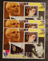 SOMALI REPUBLIC 2001 ICONS OF THE 20TH CENTURY TED TURNER& BARBARA STREISAND 3 SHEETS PERFORED  MNH - Sin Clasificación