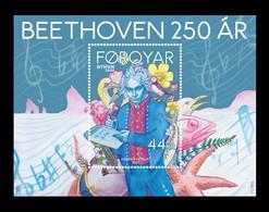 Faroe Islands 2020 Mih. 986 (Bl.56) Music. Composer Ludwig Van Beethoven MNH ** - Färöer Inseln