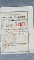Cochinchine MANDAT  Indochine Française Saigon Central Poste Et Télégraphes 1935 - Lettres & Documents