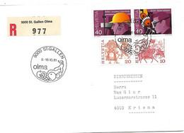 """288 - 14 - Enveloppe Recommandée Avec Oblit Spéciale """"OLMA St Gallen 1981"""" - Marcofilia"""