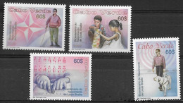 Cape Verde 2009, 200th Birthday Of Louis Braille, MNH Stamps Set - Cap Vert