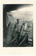 14-18.WWI Fotokarte-Deutsche Soldaten Stellung Technik Granatwrefer  (2-2) Tolle Aufnahme ! - 1914-18