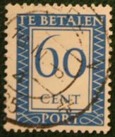 60 Ct Portzegels Postage Due NVPH PORT 101 P101 (Mi Porto 104) 1947-1958 Gestempelt / Used NEDERLAND / NIEDERLANDE - Postage Due